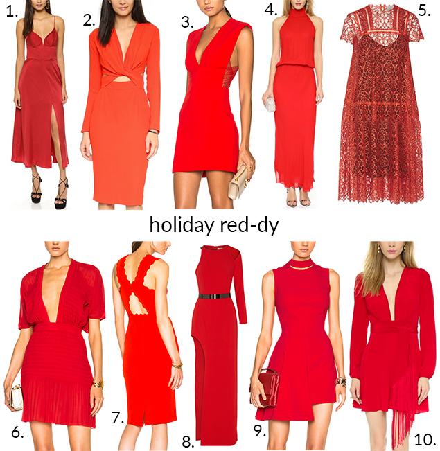 red dresses holiday