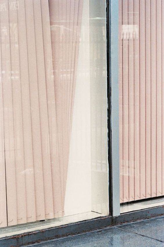 pink blush sliding blinds
