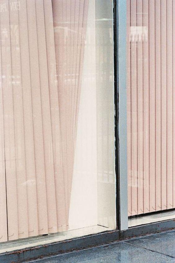 pink blush sliding blinds