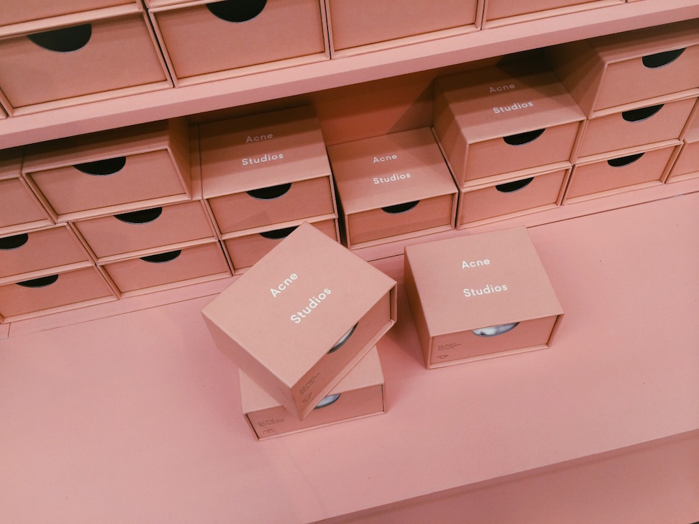 acne studios shoes boxes blush