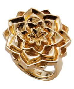 Fevi Reyes Sparkling Lotus Ring - G - L