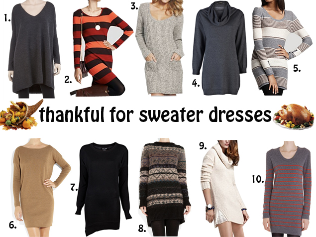 Cute Sweater Dresses to Wear with Leggings
