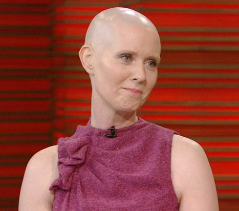 bald cynthia nixon