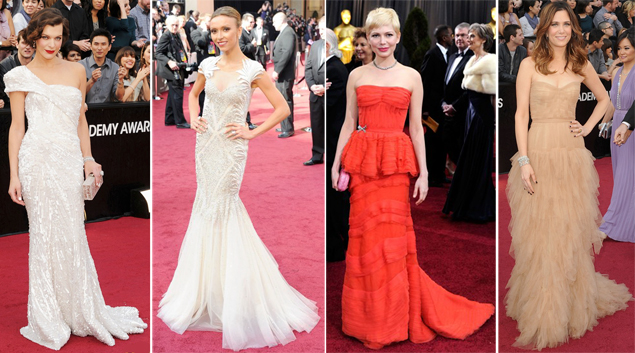 best dressed oscars 2012