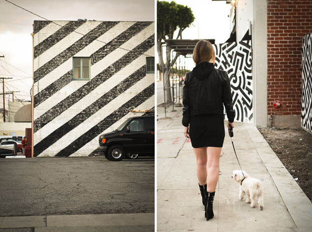 black and white wall los angeles