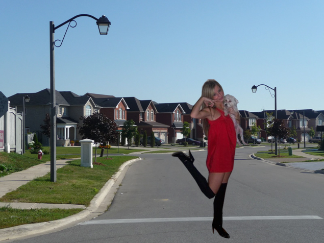 city girl in the suburbs