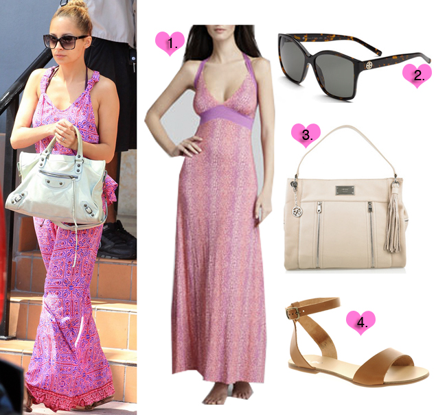 nicole richie maxi dress miami