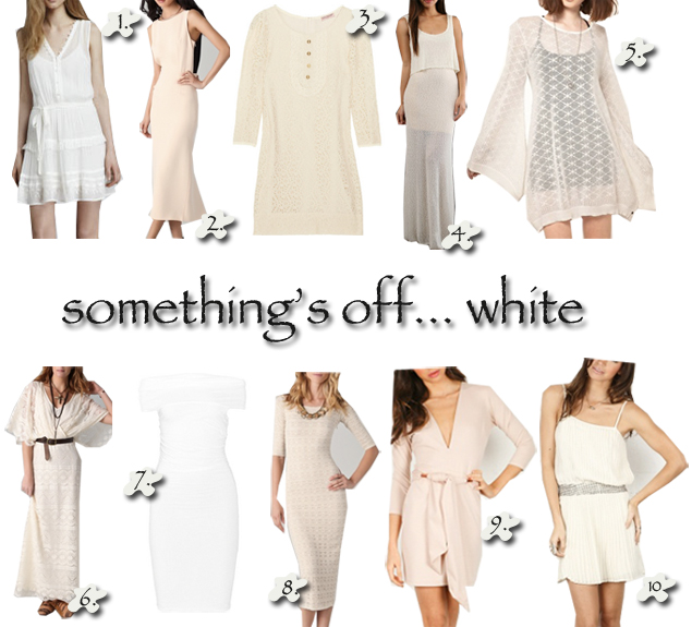 off white dresses