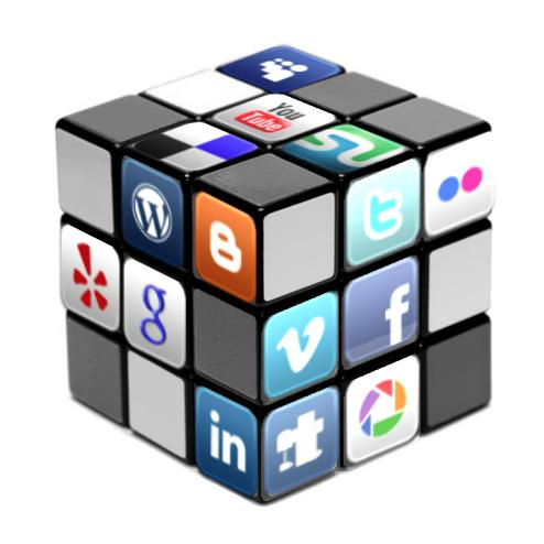 social media rubiks cube