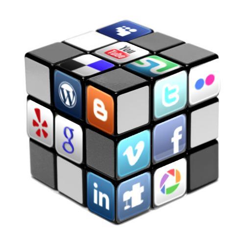social media rubiks cube