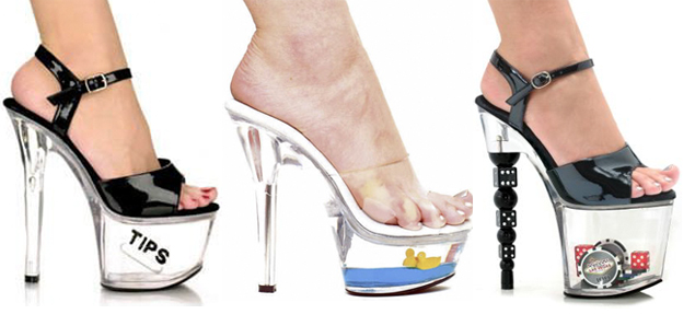 clear plastic heels
