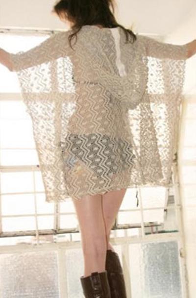 crochet poncho tunic