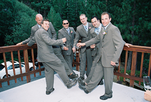 groomsmen in crocs