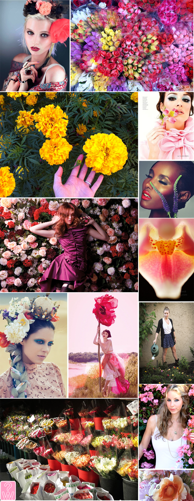 flower mood board