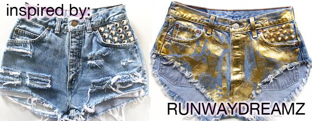 runwaydreamz cutoff shorts