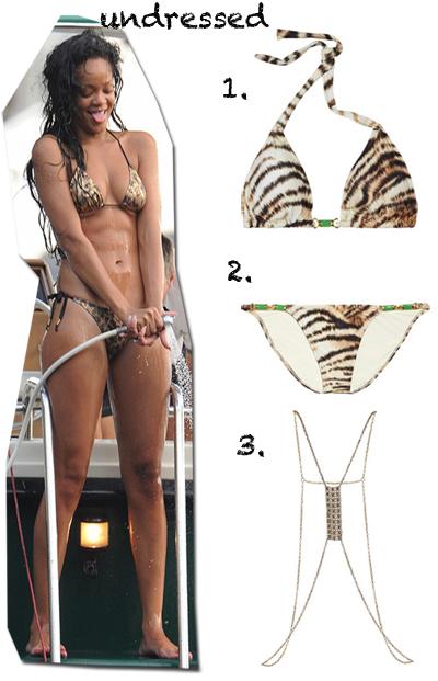 rihanna leopard bikini