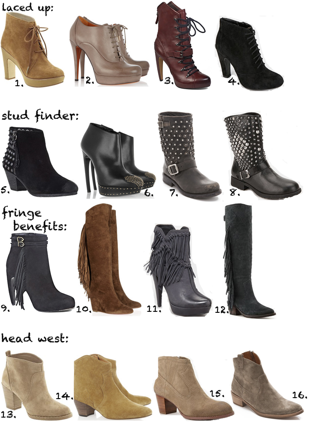 boot trends fall 2012