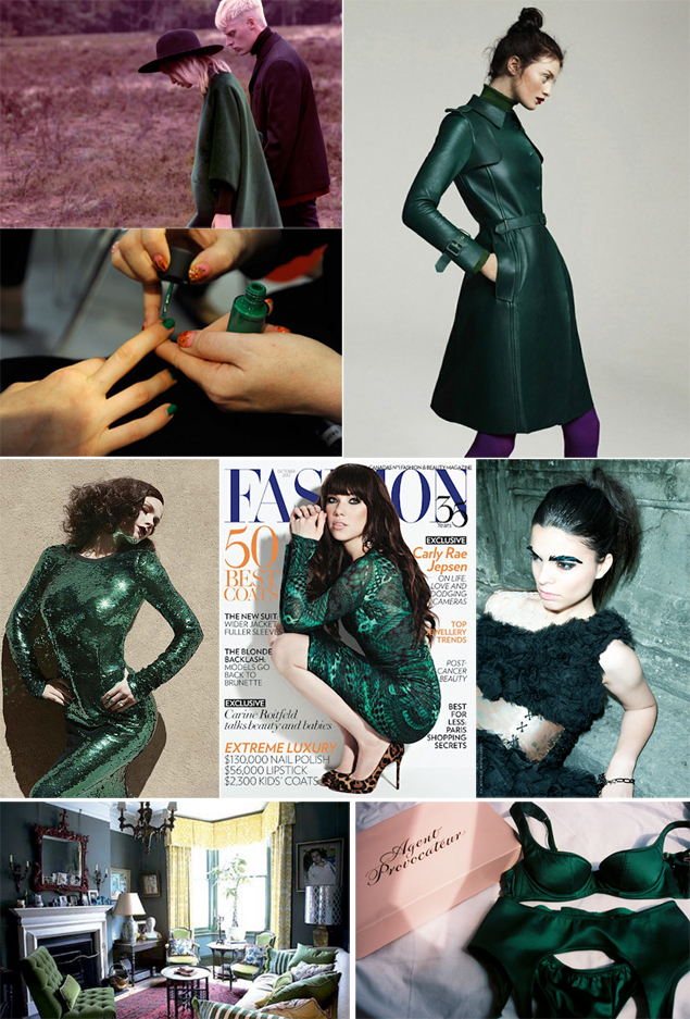 fall 2012 green color trend