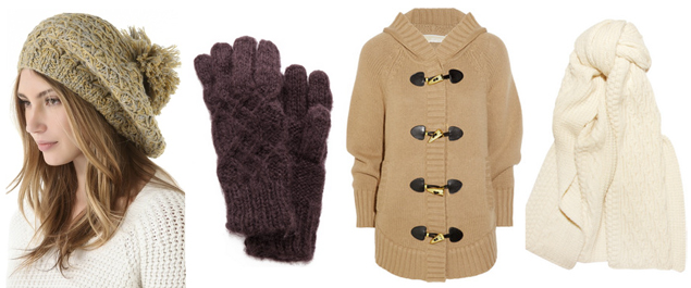 sweaters gloves hat fall 2012