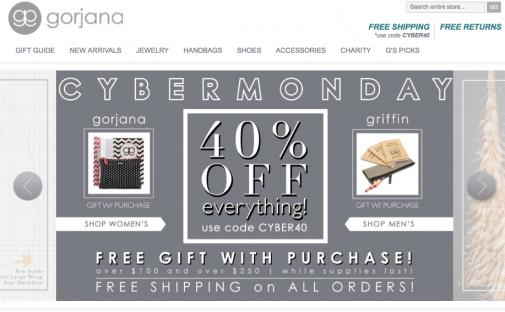 Gorjana Cyber Monday Sale