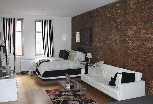 Unique Studio Apartment Brick Wall O On Inspiration Decorating